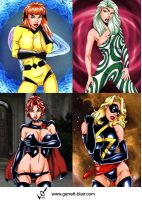 Marvel Girls 7 by gb2k by Mythical-Mommy