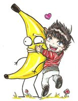 Matt loves his big banana by jessiejazz