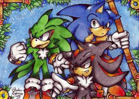sonic, jet and shadow by I-CyBeR-NeTiCs-I