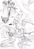 HTTYD sketches by KGX347