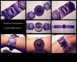Purple Obsession - Bracelet by SterlingDragon78