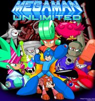 Megaman Unlimited Release Cover Art by MegaPhilX