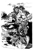 Ed Benes Woverine Inks Pin-Up by JPMayer