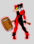 Harley Quinn Colored by angelupstart