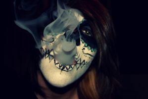 Smoking Skulls by SpiffyPaintPhotos