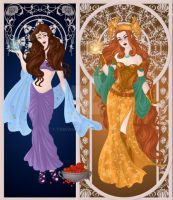 Persephone and Sigyn by NerinaSam