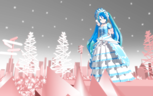 MMD LAT Victorian Miku Wallpaper by thechevaliere