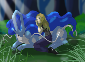 Her shiny Suicune by Mariah654