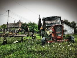 Oldtimer Tractor by Lacza