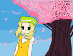 Pokemon Bianca Cherry blossoms by IluvAnime25