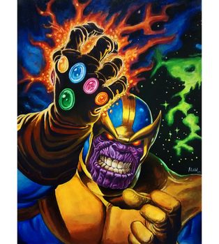 Thanos - acrylics on paper by Fgore