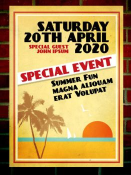 Retro Summer Flyer by egdesign01