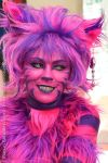 the face of Cheshire cat by Quetos