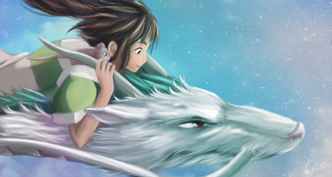 Spirited Away by OrnellaArts