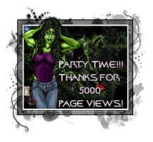 Five Thousand Page Views by THE-Darcsyde