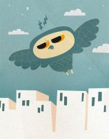 City Owl by jopilahtinen
