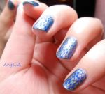 Nail art : Just a grid / Quadrillage by Angelik23
