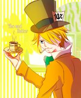 Sanji The mad Hatter by KisaSwan