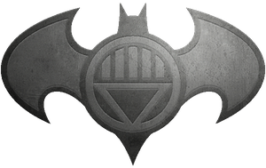Batman Black Lantern Metalic Logo by KalEl7