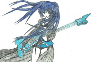 Black Rock Shooter with guitar by RamboRocky