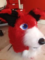 WIP red husky by WithCandyDancing