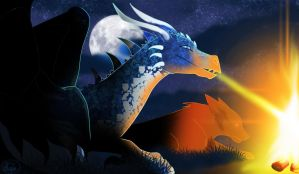Dragon And Wolf by dyb