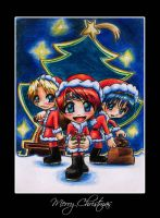 Xmas - Roy, Link and Marth by Minaya