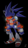 Project Mobius: Mecha Sonic -Project Essense- by Chicaaaaa