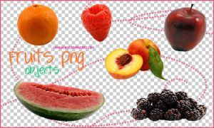 Fruits PNG Objects by camiluchiiz