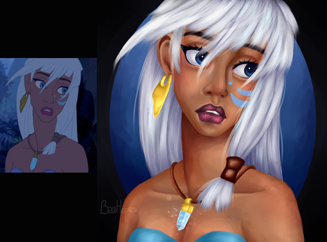 Disney's Kida repaint by BeaHopes