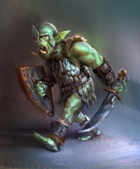 Orc guy sketch from imagination by JordyLakiere