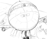 Lace on a Plane :B-day sketch: by jo-shadow