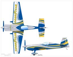 Goodyear Aerobatic Plane.  Model: Extra 330SC by graphicwolf