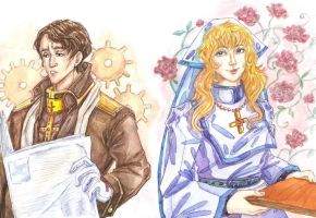 Trinity Blood (William Wordsworth and Kate Scott) by silverpen1431
