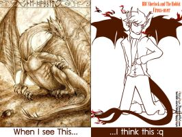 Bilbo Watson Special : The Illusion of Smaug by FlippyFaye