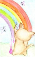 Rainbow Kitty by m-a-b-l-e