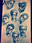 Full page of Nogitsune sketch))) by AwyrGreen