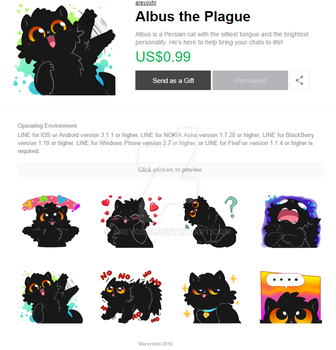 Albus Stickers on LINE by areyoshi