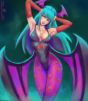 Halloween Morrigan! by Adam-Gilbert