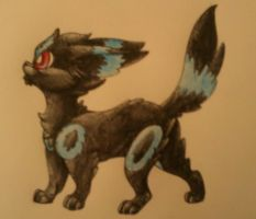 an extra fluffy serving of umbreon by Yo-Angie