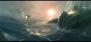 sea monster by JimHatama