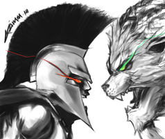 Pantheon v Rengar by G21MM