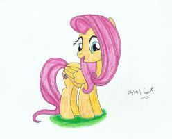 Happy Fluttershy by UlyssesGrant