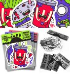 The Zombie Cafe Vinyl Sticker Set by Hikero