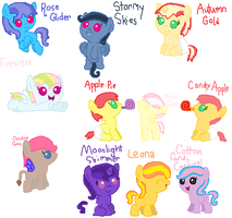 Mane 6 kids by LittleSnowyOwl