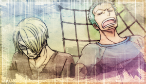 When the two get along, Zoro Sanji wallpaper by AnnaHiwatari