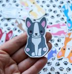 Chibi Boston Terrier Stickers and Magnets by pixelboundstudios