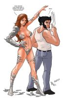 TLIID 149. Wolverine and Witchblade. by AxelMedellin