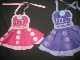 Toddler Dalek Cosplay Pinafore Commissions by DarlingArmy