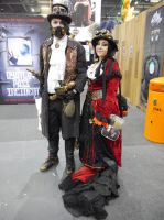 Steampunk couple MCM May '13 by KaniKaniza